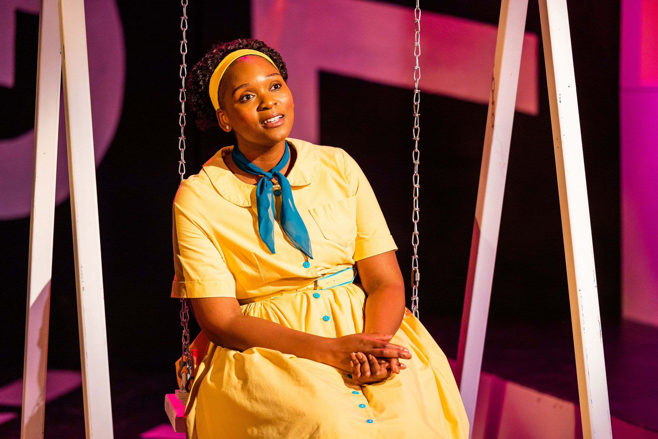 """Jasmine M. Rush in """"Queens Girl in the World"""" at Central Square Theater. (Courtesy Nile Scott Studios)"""