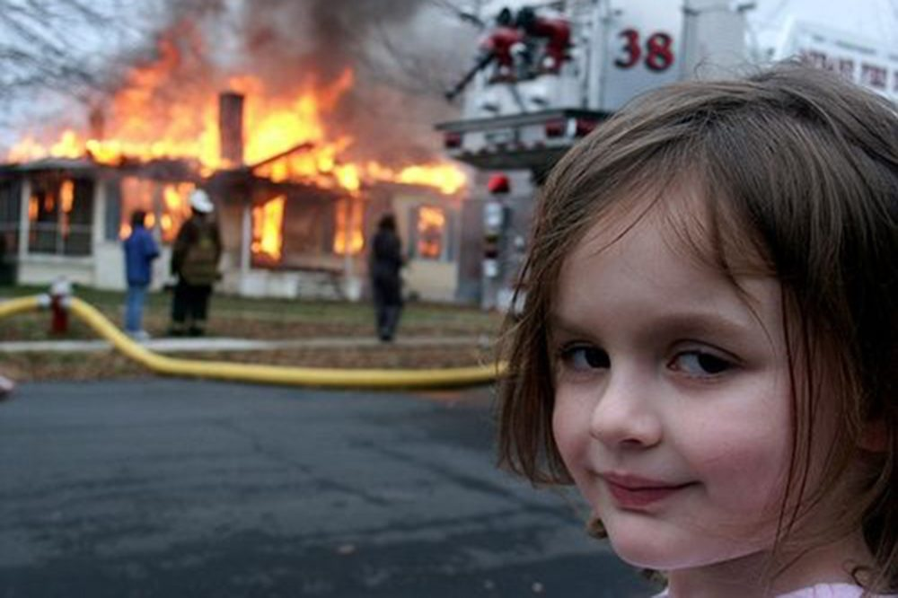 """Four year old Zoë Roth in the original photo that became known as """"Disaster Girl"""" (Courtesy Dave and Zoë Roth)."""