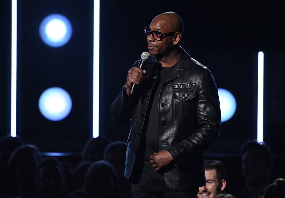 Comedian Dave Chappelle speaks onstage during the 60th Annual Grammy Awards at Madison Square Garden on January 28, 2018 in New York City.  (Kevin Winter/Getty Images for NARAS)